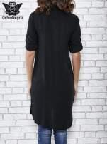 Czarna koszulotunika z kieszonkami                                  zdj.                                  4