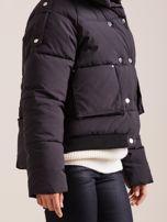 Czarna krótka kurtka puchowa                                   zdj.                                  7