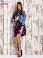 Czarna kwiatowa sukienka z kolorowymi troczkami                                  zdj.                                  4