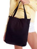 Czarna materiałowa torba z odpinanym paskiem                                  zdj.                                  2
