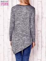 Czarna melanżowa asymetryczna bluzka                                                                          zdj.                                                                         4