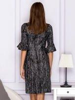 Czarna melanżowa sukienka                                  zdj.                                  2