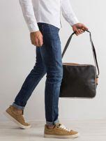 Czarna męska torba ze skóry ekologicznej                                  zdj.                                  2