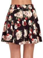 Czarna mini spódnica skater w kwiaty                                  zdj.                                  7