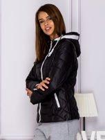 Czarna pikowana kurtka przejściowa z ozdobnymi suwakami                                  zdj.                                  5
