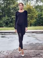 Czarna prosta dzianinowa sukienka                                  zdj.                                  9
