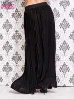 Czarna spódnica maxi z ornamentowym paskiem                                  zdj.                                  3