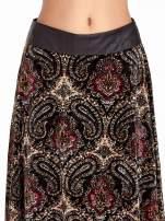 Czarna spódnica midi z nadrukiem ornamentowym                                  zdj.                                  5