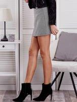 Czarna spódnica mini w jodełkę                                  zdj.                                  5