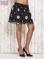 Czarna spódnica mini w kwiaty                                                                          zdj.                                                                         2