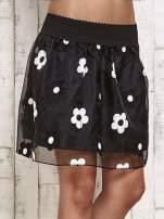 Czarna spódnica mini w kwiaty                                  zdj.                                  1