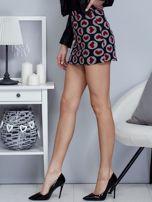 Czarna spódnica mini w serduszka                                  zdj.                                  3