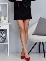 Czarna spódnica trapezowa z suwakiem                                  zdj.                                  1