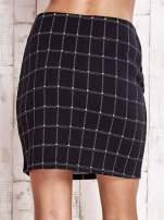 Czarna spódnica z graficznym wzorem i suwakami                                  zdj.                                  6
