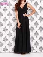 Czarna sukienka maxi z odkrytymi plecami                                  zdj.                                  1