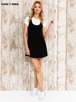 Czarna sukienka na szerokich ramiączkach                                  zdj.                                  4