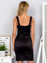 Czarna sukienka z cekinowymi wstawkami                                  zdj.                                  2
