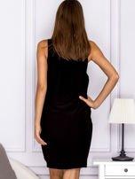 Czarna sukienka z kieszonkami                                  zdj.                                  2