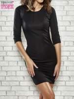 Czarna sukienka z marszczeniami przy dekolcie                                  zdj.                                  1