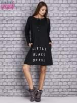 Czarna sukienka z napisem LITTLE BLACK DRESS                                  zdj.                                  2
