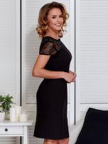 Czarna sukienka z siateczkową górą                                  zdj.                                  3
