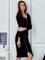 Czarna sukienka z suwakiem                                  zdj.                                  5