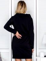 Czarna sukienka z wstążkami                                   zdj.                                  2