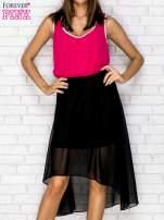Czarna tiulowa sukienka z krzyżowanymi plecami                                                                          zdj.                                                                         1