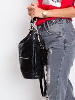 Czarna torba damska z ekoskóry                                  zdj.                                  2