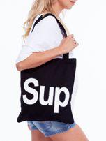 Czarna torba materiałowa z napisem SUP                                  zdj.                                  1