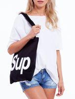 Czarna torba materiałowa z napisem SUP                                  zdj.                                  2