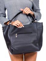 Czarna torba shopperka z ćwiekami                                  zdj.                                  3