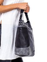 Czarna torba z przeszyciami                                  zdj.                                  3