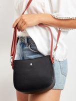 Czarna torebka z odpinanym paskiem                                  zdj.                                  2
