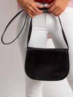 Czarna torebka ze skóry naturalnej                                  zdj.                                  3