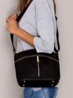 Czarna torebka ze złotymi suwakami                                  zdj.                                  4