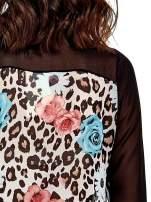 Czarna transparentna koszula z motywem kwiatowym