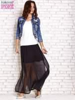 Czarna transparentna spódnica maxi