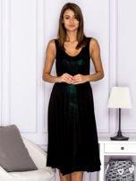 Czarna warstwowa sukienka                                  zdj.                                  1