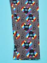 Czarne legginsy dla dziewczynki z nadrukiem FURBY                                  zdj.                                  4