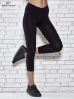 Czarne legginsy sportowe z aplikacją z dżetów na nogawkach                                  zdj.                                  1
