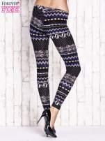 Czarne legginsy w zimowy motyw                                  zdj.                                  3