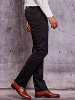 Czarne materiałowe spodnie męskie z kieszeniami                                  zdj.                                  5