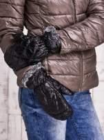 Czarne pikowane rękawiczki z jednym palcem FUNK N SOUL                                                                          zdj.                                                                         1