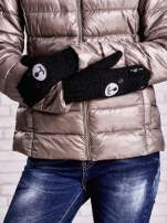 Czarne rękawiczki w kształcie misia                                  zdj.                                  3