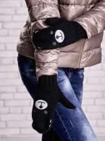 Czarne rękawiczki w kształcie misia                                  zdj.                                  1
