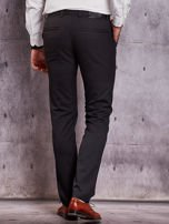Czarne spodnie męskie w delikatny wzór                                  zdj.                                  2