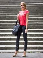 Czarne woskowane spodnie slim fit                                  zdj.                                  7
