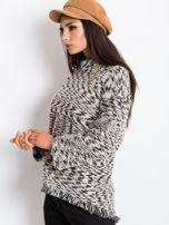 Czarno-biały sweter North                                  zdj.                                  3