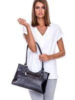 Czarno-szara torebka na ramię                                   zdj.                                  3